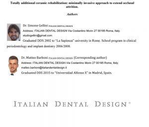 Authors - Approccio minimamente invasivo nelle riabilitazioni estetiche - Mira Design Latina